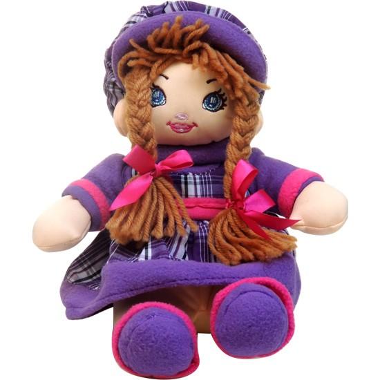 Cesta Rosas Lilás com boneca camponesa