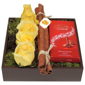 Rosas Amarelas e Chocolate | Aniversario