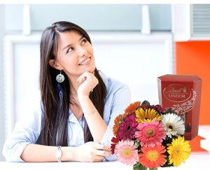Mandar Flores no trabalho de uma mulher especial