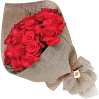 Buquê 24 rosas colombianas vermelhas