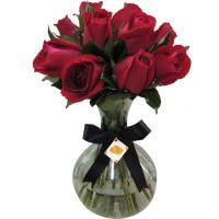 Arranjo Rosas Vermelhas | Vaso Vidro