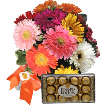 Buque de Gerberas Chocolate