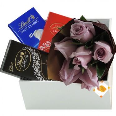 Apaixonado por Chocolate Lindt   Rosas Lilas