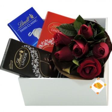Apaixonado por Chocolate Lindt | Rosas Vermelhas