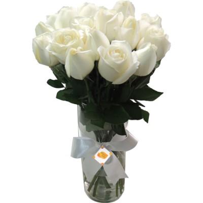 Arranjo Lindas Rosas Brancas