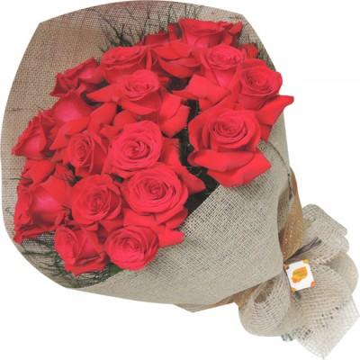 Bouquet 24 rosas colombianas vermelhas