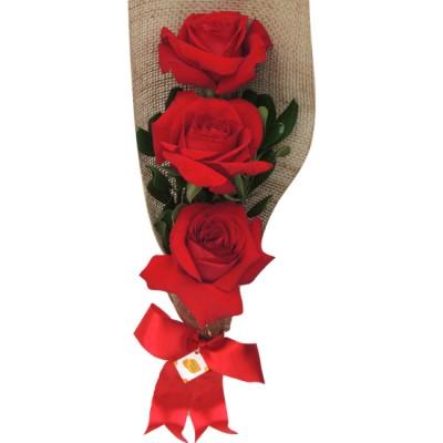 Ramalhete com 3 rosas colombianas