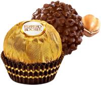 Presentes com flores e Ferrero Rocher