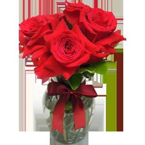 Arranjo rosas colombianas vermelhas